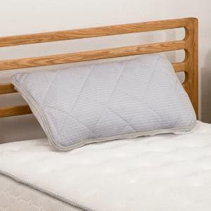 [45×60] ひんやり冷たい接触冷感 枕パッド Just cool ストライプグレー ヤマダオリジナル