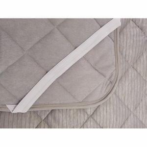 [セミダブル]ヤマダオリジナル 接触冷感 敷パットクールスーパー ストライプ グレー