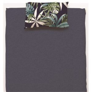 枕カバー/ピローケース リゾートリーフ ネイビー 35×50cm用 しわになりにくい 乾きやすい