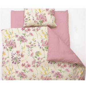 掛け布団カバー  セミダブル 170×210cm 水彩フラワー ピンク しわになりにくい 乾きやすい