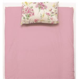 大宗 ボックスシーツ 水彩フラワー セミダブルサイズ ピンク