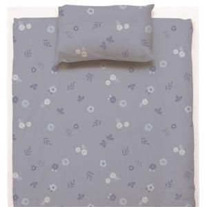 ベットカバー/ボックスシーツ  シングル 100×200×38cm フラワー ブルー しわになりにくい 乾きやすい