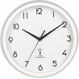 電波掛時計 カペラ  ホワイト 直径27cm