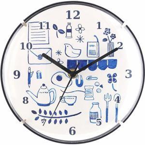 掛時計 アステロ アオ   直径20cm
