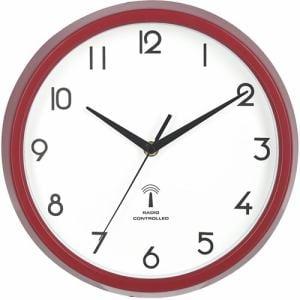 電波掛時計 カペラ レッド 直径27cm
