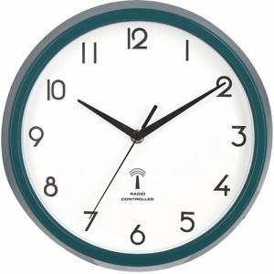 電波掛時計 カペラ グリーン 直径27cm