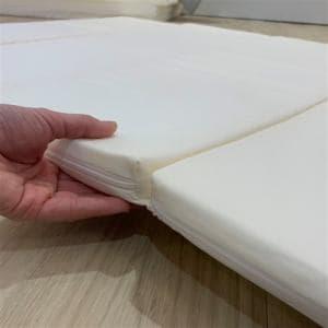 [シングル]ヤマダオリジナル 6つ折り硬質マットレス ホワイト