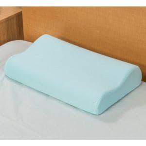 ヤマダオリジナル もっちり冷感枕(波型) 約30×50cm ブルー