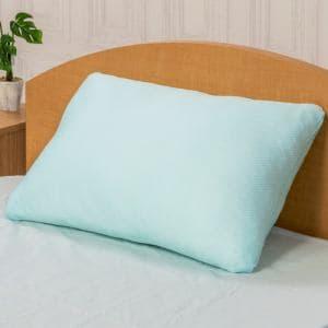 ヤマダオリジナル  ポリエステル枕+涼感カバー  約40×60㎝ ブルー