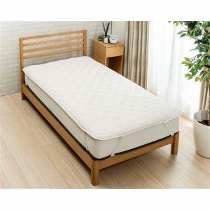 ヤマダオリジナル  吸水速乾ベッドパッド  セミダブル アイボリー