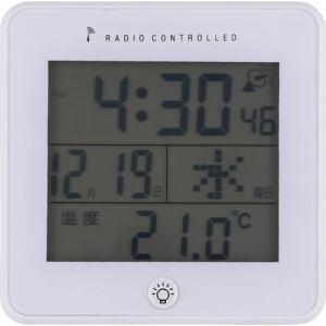 電波置時計 ラティ ホワイト 不二貿易(株)