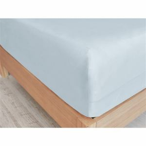 IDC大塚家具 [シングル]ボックスシーツ 「フレビープラス」綿 コットン 抗菌防臭加工  ブルー
