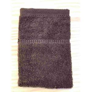 ハンドタオル 泉州こだわりボヌール ブラウン (1枚) 綿100% 吸水性、乾きがよく、毛羽落ちが少ない 約34×36㎝ 野村タオル(株)