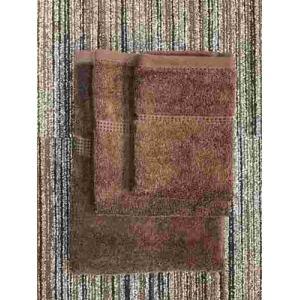 フェイスタオル 泉州こだわりボヌール ブラウン (1枚) 綿100% 吸水性、乾きがよく、毛羽落ちが少ない 約34×85cm 野村タオル(株)