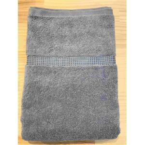 バスタオル 泉州こだわりボヌール チャコール (1枚) 綿100% 吸水性、乾きがよく、毛羽落ちが少ない 約60×125㎝ 野村タオル(株)