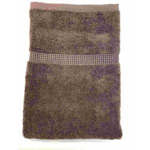 バスタオル 泉州こだわりボヌール ブラウン (1枚) 綿100% 吸水性、乾きがよく、毛羽落ちが少ない 約60×125㎝ 野村タオル(株)