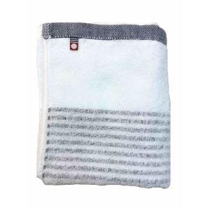 フェイスタオル 今治タオル シンプルボーダー ネイビー (1枚) 綿100% 柔らかな肌触りと優れた吸水性 約33×80㎝ 野村タオル(株)