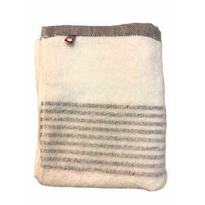 フェイスタオル 今治タオル シンプルボーダー ブラウン (1枚) 綿100% 柔らかな肌触りと優れた吸水性 約33×80cm 野村タオル(株)
