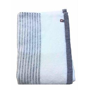 バスタオル 今治タオル シンプルボーダー ネイビー (1枚) 綿100% 柔らかな肌触りと優れた吸水性 約60×120cm 野村タオル(株)