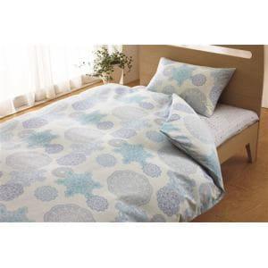 西川株式会社 2138-22299 BL 掛カバー ドイリーレース(ダブルロング)  ORNE 190×210cm ブルー