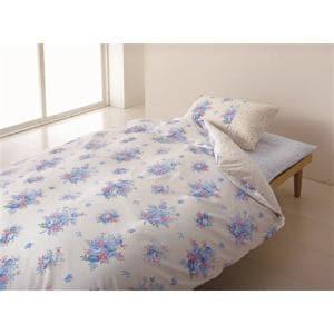 西川株式会社 2138-02291 BL 掛カバー リボンローズ-(ダブルロング)  ORNE 190×210cm ブルー