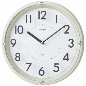ノア精密(株) インテリア掛時計グラスアワー MAG W-725  アイボリー
