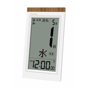 電波時計 日めくりカレンダー電波クロック ホワイト アデッソ(株) NE-02