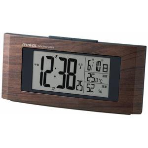 ノア精密(株) 電波目覚し時計ウッドライン MAG T-743 ブラウン