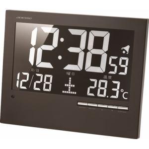 電波時計 ウォール電波クロック ブラック アデッソ(株) AK-62