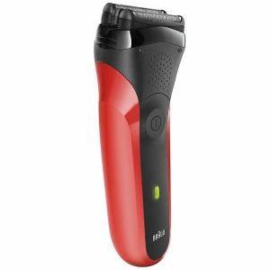 シェーバー ブラウン メンズ 電気シェーバー 髭剃り 300S-R シリーズ3 3枚刃 レッド