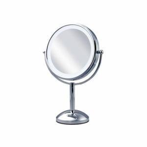 コイズミ KBE-3100-S 丸型3色 LED拡大鏡(両面卓上大)5倍