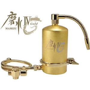 ミズセイ J207P-G 家庭用浄水器 「磨水IV」24金箔ゴールド【受注生産品】