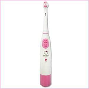 オーム電機 電動歯ブラシ キティー HB-CY101B-KYP