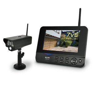 エルパ ワイヤレス防犯カメラ&モニターセット CMS-7001
