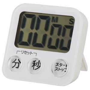 オーム電機 大画面デジタルタイマー ホワイト COK-T130-W