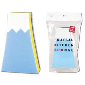 マーナ 富士山キッチンスポンジ ブルー K568B