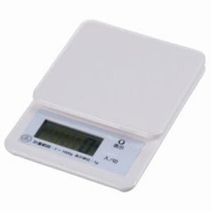 オーム電機 キッチンスケール (1㎏計) ホワイト COK-S100-W