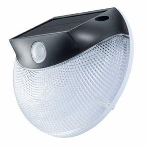 オーム電機 LS-SHW1E4-K LEDセンサーウォールライト ソーラー発電式 monban 黒