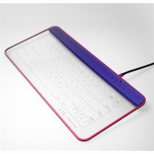UPQ(アップ・キュー) QKBD003 Q-gadget KB02 NR Bluetooth対応 ワイヤレスガラス製タッチキーボード ネイビー・アンド・レッド