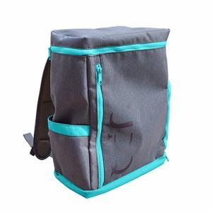 UPQ(アップ・キュー) BP-02-BG 「USBバックル」付き&ポケット充実バックパック UPQ Bag BP02 mini BG ブルー・バイ・グリーン
