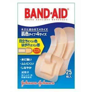 ジョンソン・エンド・ジョンソン バンドエイド2004 肌色 4サイズ25枚 【医療機器】