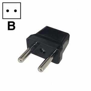 オーム電機 TRA-A0847B 海外用電源形状変換プラグ Bタイプ