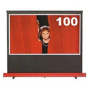 キクチ科学研究所 SD-100HDPG/R 100型 16:9HD 床置きタイプスクリーン 150PROG アドバンス スタイリストリミテッド イタリアンレッド