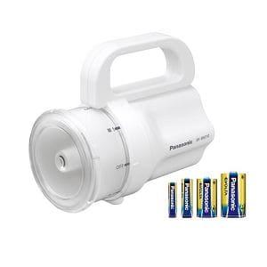 パナソニック 乾電池エボルタ付き 電池がどれでもライト(ホワイト) BF-BM10K-W