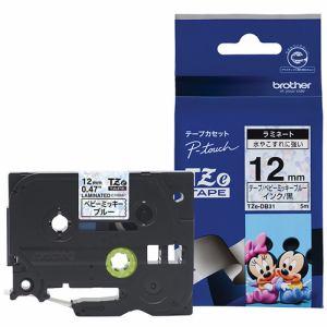 ブラザー TZE-DB31 ピータッチ用キャラクターテープ(ベビーミッキー ブルー/黒文字/12mm幅)