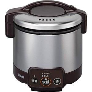 リンナイ ガス炊飯器 「こがまる VMシリーズ」(3合) 【プロパンガスLP用】 ダークブラウン RR-030VM(DB)-LP