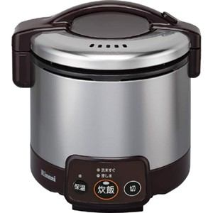 リンナイ ガス炊飯器 「こがまる VMシリーズ」(3合) 【都市ガス13A用】 ダークブラウン RR-030VM(DB)-13A