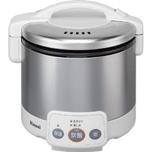 リンナイ ガス炊飯器 「こがまる VMシリーズ」(3合) 【プロパンガスLP用】 グレイッシュホワイト RR-030VM(W)-LP