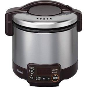 リンナイ ガス炊飯器 「こがまる VMTシリーズ」(3合) 【都市ガス13A用】 ダークブラウン RR-030VMT(DB)-13A