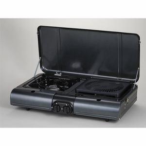 イワタニ CB-TBG-1 テーブルトップ型BBQグリル フラットツイングリル チャコールグレーメタリック
